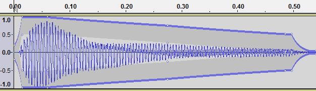 shaped string sound in Audacity