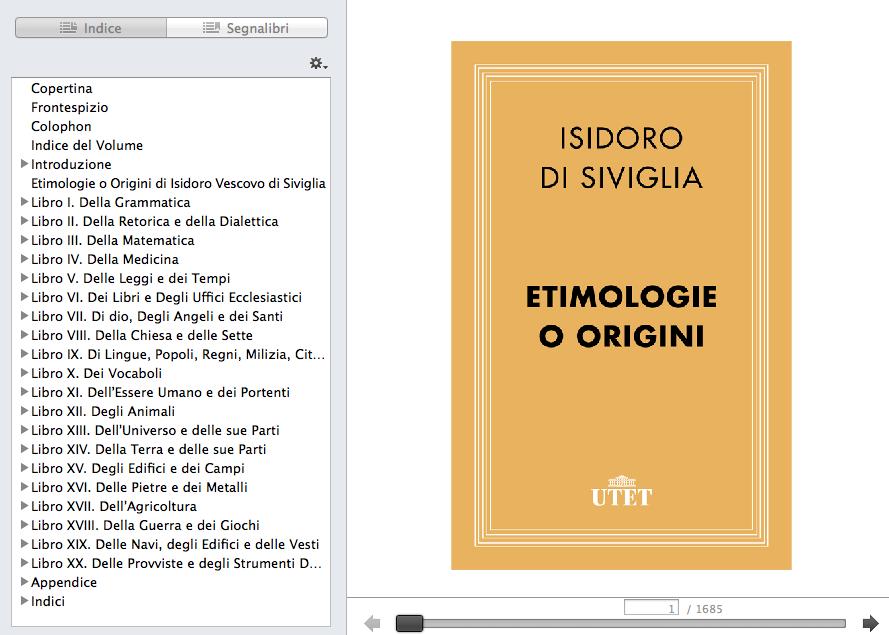 Etimologie e origini. 1686 pagine digitali da portarsi dietro.