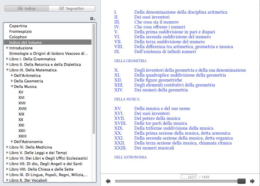 Indice delle etimologie: meglio l'indice della TOC.