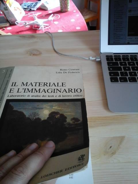 Il materiale e immaginario, foto del libro