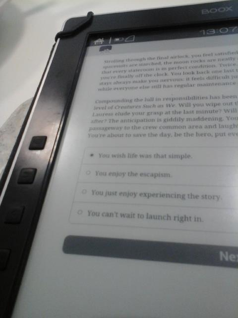 ebook reader con app android di interactive fiction