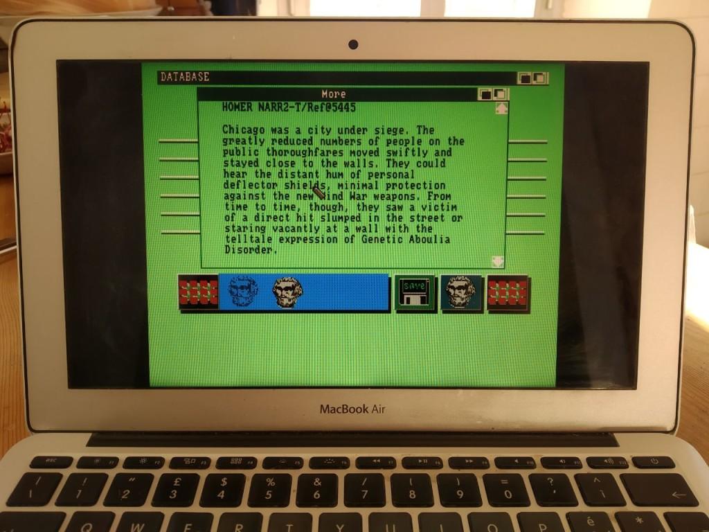 Portal su un Macintosh in emulazione Amiga