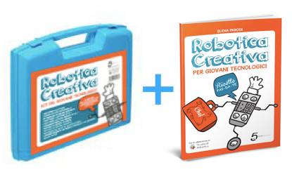 Valigetta e libro robotica
